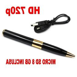 Spy Pen With Camcorder + SD 8GB Camera Hidden Microphone Pho